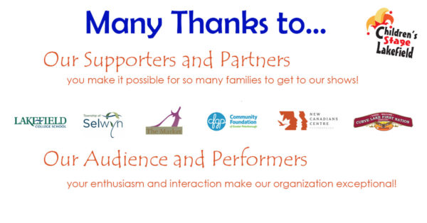 Thanks to our supporters, partners, audience and performers